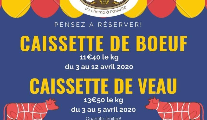 CAISSETTES DE BOEUF ET CAISSETTES DE VEAU