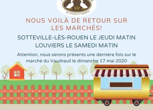 Rendez-vous sur les marchés de Sotteville-lès-rouen et louviers